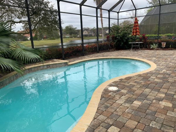 Father's Day DIY pool patio